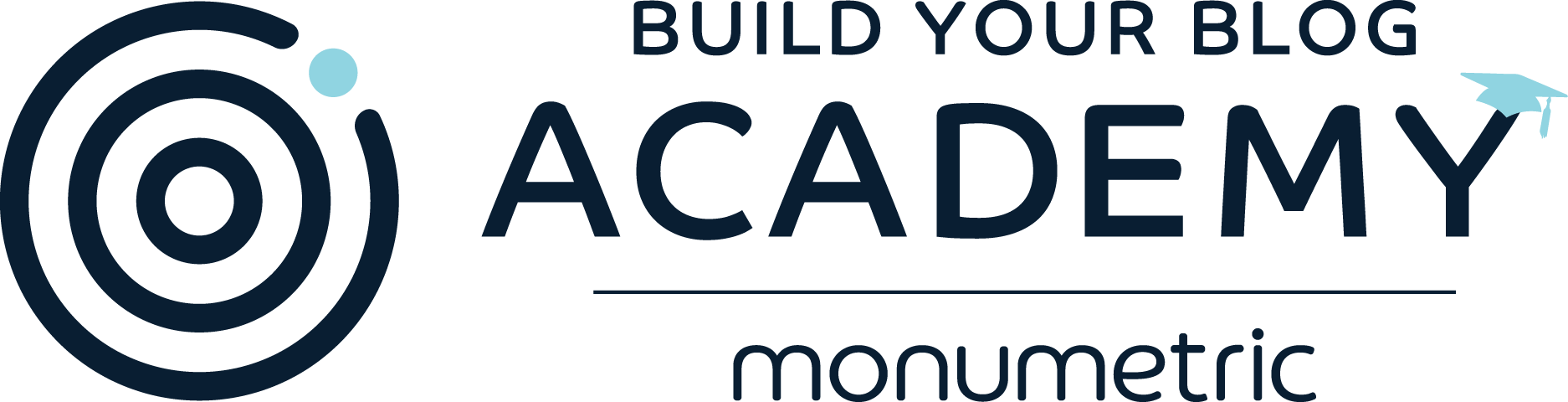 Learn More Build Your Blog Academy Logo Monumetric